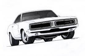 dodge charger srt 1970 1969 dodge charger r t pro touring drawing by vertualissimo