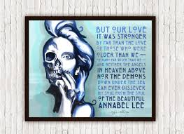 annabel lee by edgar allan poe edgar allan poe wall art annabel lee skeleton skull