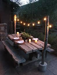 light stands home depot make diy string light poles with concrete stands for outdoor within