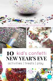 confetti party ideas for new years eve party with kids