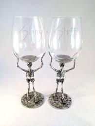 unique barware each pottery barn skeleton martini glass