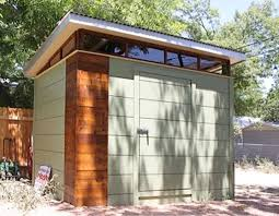 prefab storage shed with black doors outdoor prefab storage