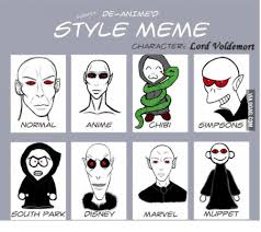 Memes Characters - thy de animed style meme character lord voldemort anime normal chibi