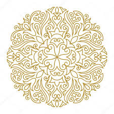 traditional design line art ornament for design template vintage element in eastern