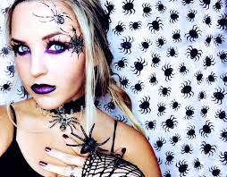 spider witch halloween look youtube