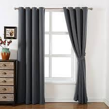 Charcoal Grey Blackout Curtains Amazlinen Sleep Well Blackout Curtains Toxic Free Energy Smart
