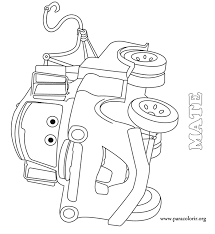 cars tow mater coloring page