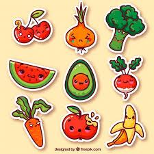 imagenes gratis de frutas y verduras pegatinas graciosas de verduras y frutas descargar vectores gratis