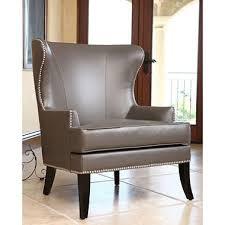 Leather Wingback Chair Tobi Leather Wingback Chair Sam U0027s Club