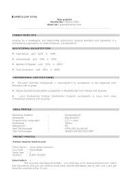 28 Resume Samples For Sample by Resume Example For Freshers 28 Resume Templates For Freshers Free