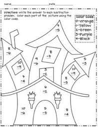 christmas worksheet color by number math worksheet for kids