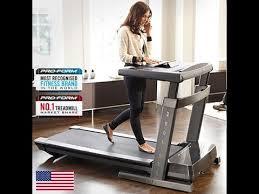 proform thinline desk treadmill review youtube