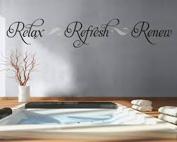 bathroom wall decal relax refresh renew bathroom decor vinyl zoom