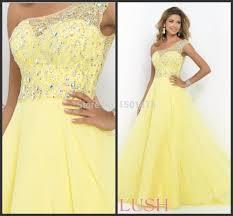 aliexpress com buy elegant chiffon yellow ball gown bling
