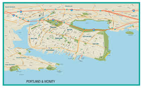 Maps Portland by Maine Map Explore The Towns U0026 Downtown City Travel Portland