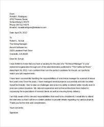 7 it manager cover letter free sample example format download