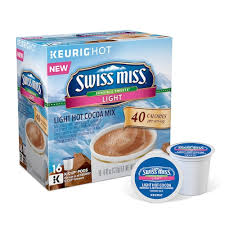 swiss miss light cocoa k cups k cup pod swiss miss sensible sweets light cocoa 16 pk