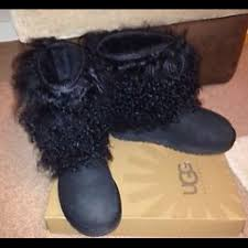 ugg boots in size 11 for s ugg black ugg mongolian fur boots from vivaglam s closet
