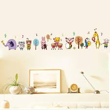 cartoon animals music band wall stickers for kids boys girls room cartoon animals music band wall stickers for kids boys girls room nursery tree music note wall