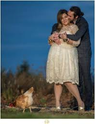 allen hill christmas tree farm engagement session with carla ten