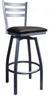silver metal bar table silver metal ladder back swivel bar stool with 3 slats