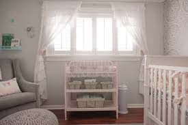 Pink And White Curtains For Nursery Appealing White Curtains For Nursery Designs With White Curtains