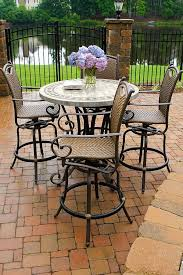 High Patio Table Impressive Pendant With Additional High Top Patio Table And Chairs