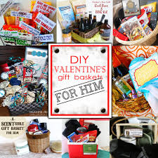 Birthday Gift Baskets For Men Diy Valentine U0027s Day Gift Baskets For Him Darling Doodles