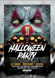 20 free halloween psd party flyer templates