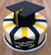 graduation cake with graduation cap cake topper trefzger s bakery