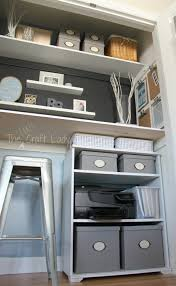 Remodelaholic Build A Custom Corner Home Office In A Closet How To Make The Most Of A Little Bit Of
