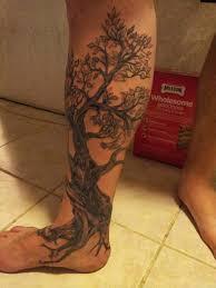 cherry tree design on leg stuff