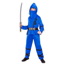 Samurai Halloween Costume Boys Power Ninja Japanese Samurai Warrior Child Kids Fancy Dress