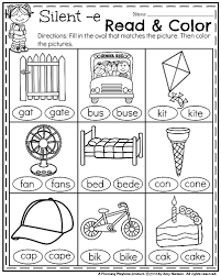 1st grade math and literacy worksheets with a freebie silent e