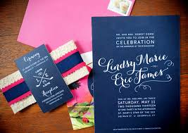 navy and blush wedding invitations lindsy eric s pink and navy floral wedding invitations