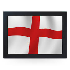 England Flag Colors England Flag Wavy Lap Tray L0229 Cushioned Lap Trays By Yoosh