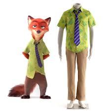 halloween costumes xxxl 2016 cartoon movie zootopia nick wilde fox cosplay costume green