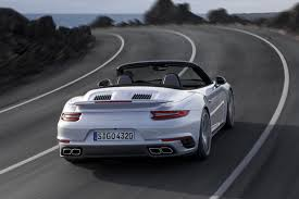 silver porsche 2017 porsche 911 turbo convertible rear silver indian autos blog