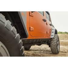 jeep wrangler 4 door orange rugged ridge 11651 12 rocker guard kit body armor 07 16 jeep