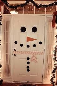 snowman door decorations best christmas door decorations ideas 2017