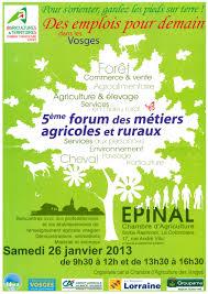 chambre d agriculture des vosges 5ème forum des métiers agricoles et ruraux ville de rambervillers
