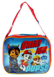 paw patrol lunch bag childrens zip fastening lunch bags