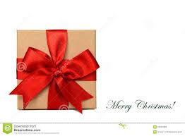 gift box and merry text stock photo image