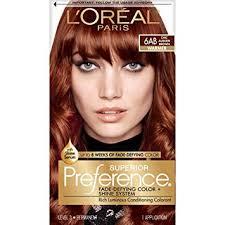 auburn brown hair color pictures amazon com l oréal paris superior preference permanent hair