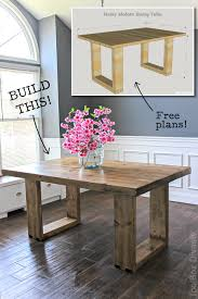 Plans For Dining Room Table Diy Husky Modern Dining Table