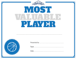 basketball mvp certificate template 28 images basketball