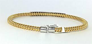 golden diamond bracelet images Italian 14k yellow gold diamond bar on twisted wire bracelet jpg