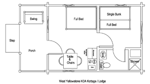 1 bedroom cabin plans lodging cabins cottages in the yellowstone koa cground rv park