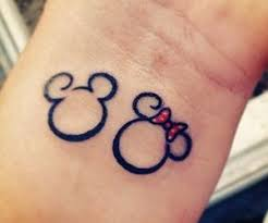 couple tattoo mickey mouse mickey and minnie tattoos google search on we heart it