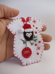 baby s felt onesie ornament fieltro